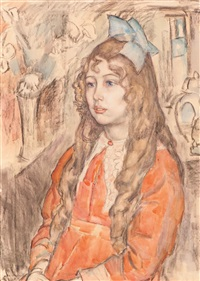 portrait of a girl by leo gestel