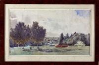 kerbastic, vue du parc by ernest constant simon