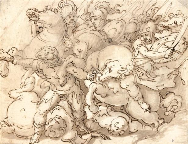 scène de bataille by giovanni battista paggi