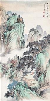 山水 镜片 设色纸本 by xu xiaochun