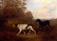 gundogs on the scent by joseph (of worcester) dunn