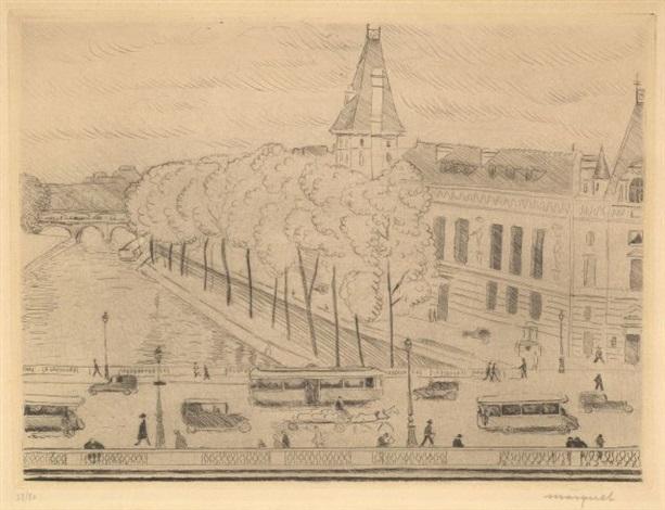 le palais de justice vu du quai saint michel by albert marquet