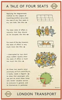 a tale of four seats by fougasse (cyril kenneth bird)
