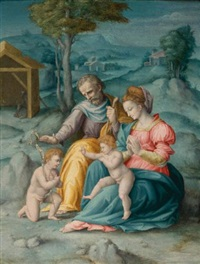 the holy family with the infant saint john the baptist by bacchiacca