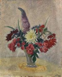 roses et dahlias by jean puy
