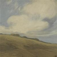 clouds over a california hillside by xavier martinez