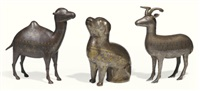 a camel, dog and deer (3 works) by anonymous-persian (19)
