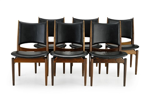 egyptian chair set of 6 by finn juhl