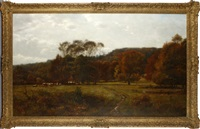 landscape with cattle grazing by j. deane simmons