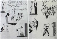 sequential illustration on two sheets: the misled mannequin by anne hariet (sefton) fish