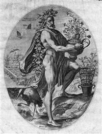 vertumnus (dalla serie gli dei pastorali) by cornelis cort
