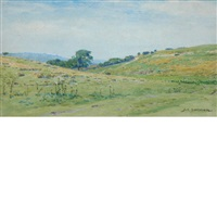 field landscape (+ sand dunes on the south coast; 2 works) by john charles dollman