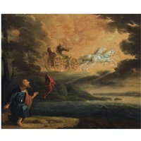 elijah taken up into heaven in the chariot of fire by pieter symonsz potter