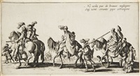 les bohémiens (set of 4) by jacques callot