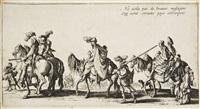 les bohémiens (set of 4) by jacques callot