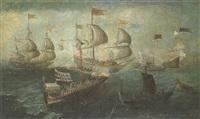 la bataille de lépante by andries van artvelt (ertvelt)