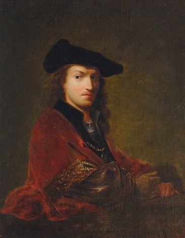 portrait of a gentleman with beret by ferdinand bol