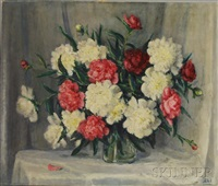 still life of peonies by henry hammond ahl