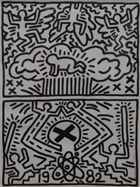 nuclear disarmament by keith haring