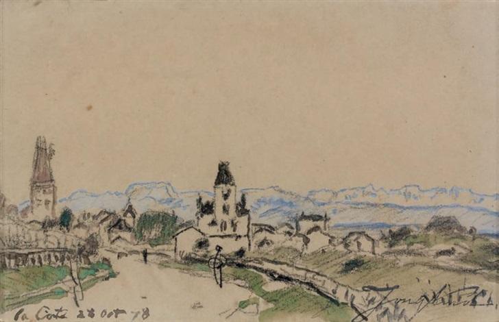 la villa beau séjour devant la côte saint andré by johan barthold jongkind