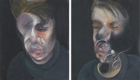 two studies for self-portrait by francis bacon