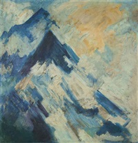 untitled (mountainscape) by hari ambadas gade