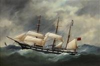 the s.s. argosy in heavy seas by édouard adam