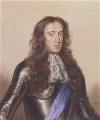 portrait of james ii in military dress by george perfect harding
