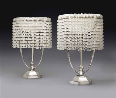 table lamps (pair) by émile jacques ruhlmann