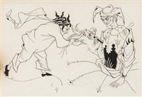 vignette for p.55 in bon-mots of sydney smith and r. brinsley sheridan by aubrey vincent beardsley