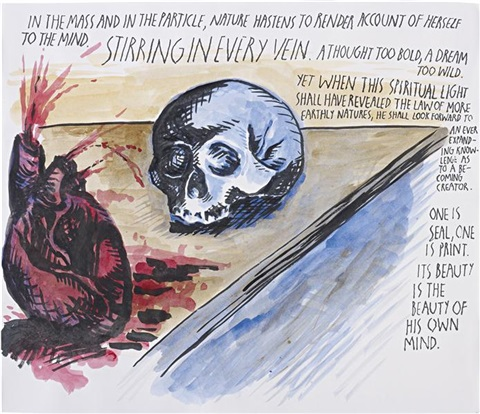 untitled (in the mass and in the particle...) by raymond pettibon