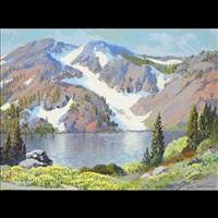 virginia lake, high sierras by carl sammons