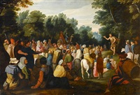saint john the baptist preaching to the multitude by hans jordaens iii