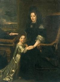jeune portrait de madame de maintenon avec sa nièce by ferdinand elle