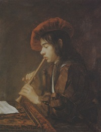 the piping boy by abraham van dyck