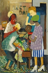 meeting place (shopping) by norman lewis