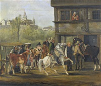pferdemarkt by johann conrad gessner