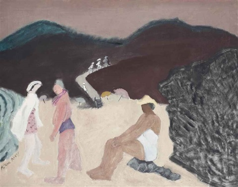 california beach by milton avery
