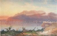 küste bei sorrent mit blick auf capri by augusto corelli