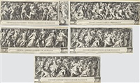 the rape of the sabine women (5 works) by cherubino alberti