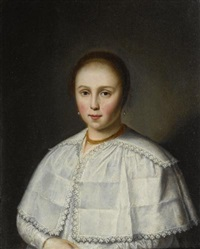 portrait of a lady by dirck dircksz van santvoort