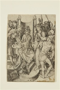 le christ devant pilate (from la passion du christ) by martin schongauer