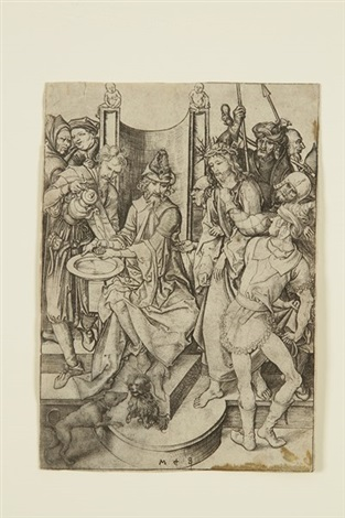 le christ devant pilate from la passion du christ by martin schongauer