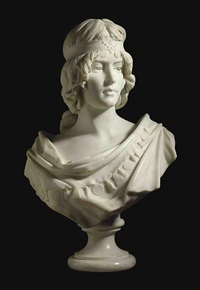 bust of a maiden by a. piazza