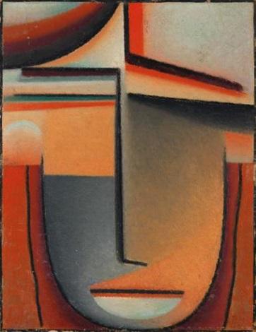 abstrakter kopf tragik abstract head tragic by alexej jawlensky