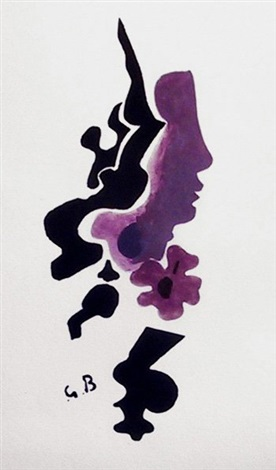 profil (from espace) by georges braque