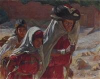 trois femmes dans l'oued de bou saâda by fritz muller