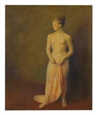 Nude with Scarf, 1943
