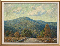 fall landscape with hills, probably indiana by clifton a. wheeler