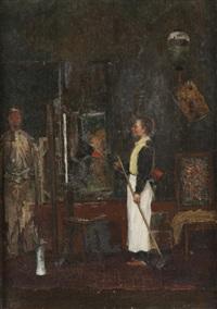 dans l'atelier du peintre by henry jacquier